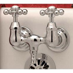 Clawfoot Tub Faucet With Metal Cross Handles Randolph Morris 79 Old Fashioned Bathtub Wall Mount Tub Faucet Vintage Tub