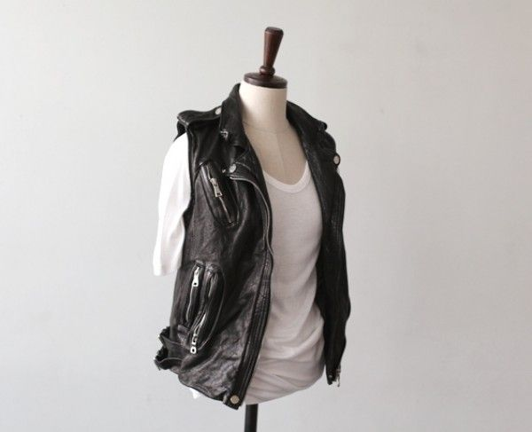 [At fance] Lamb Skin Rider Vest