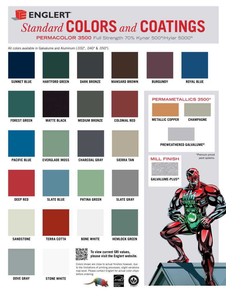 Best Englert Color Chart Roof Colors Metal Roof Colors 400 x 300