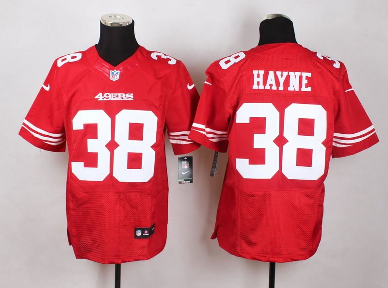 uk availability 804e3 d306f Nike San Francisco #49ers #38 #JerrydHayne Men's Elite red ...