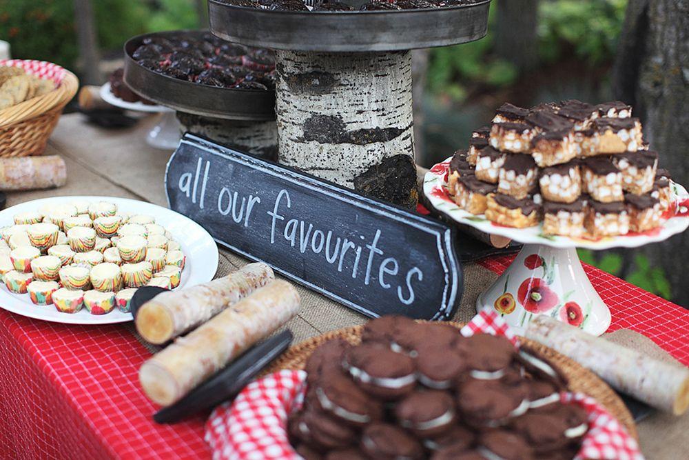 Desserts - Unique DIY Wedding in Lac Ste. Anne, Alberta   Photography by Jessica Fern Facette   via Wedding Bells