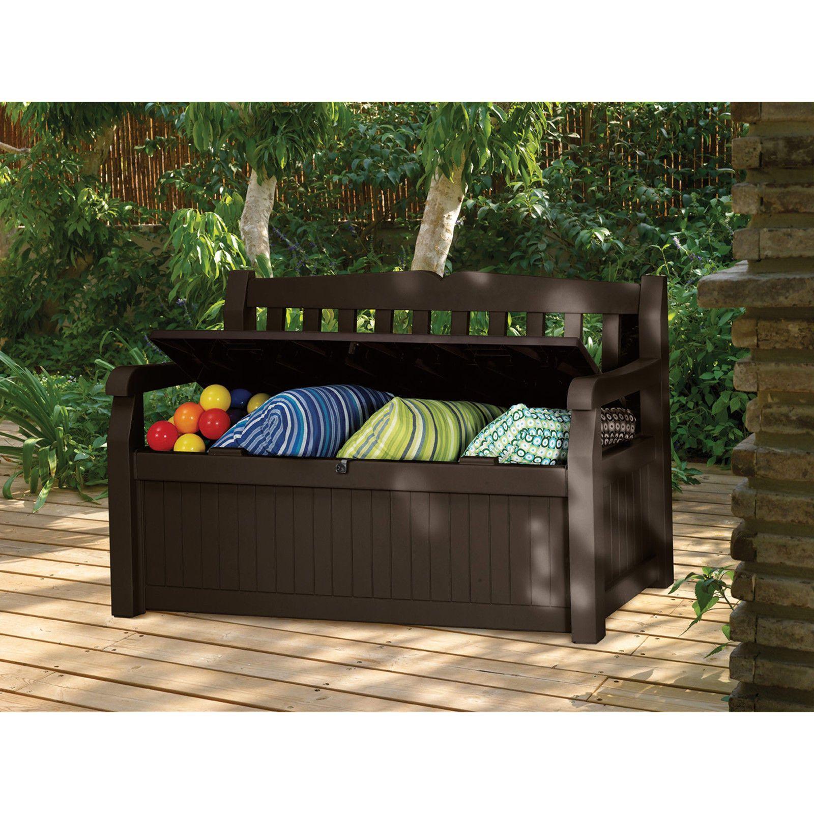 Remarkable Keter Eden Outdoor Seating Storage Box 70 Gal Patio Deck Creativecarmelina Interior Chair Design Creativecarmelinacom