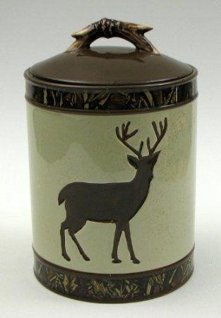 Deer Camouflage Cookie Jar