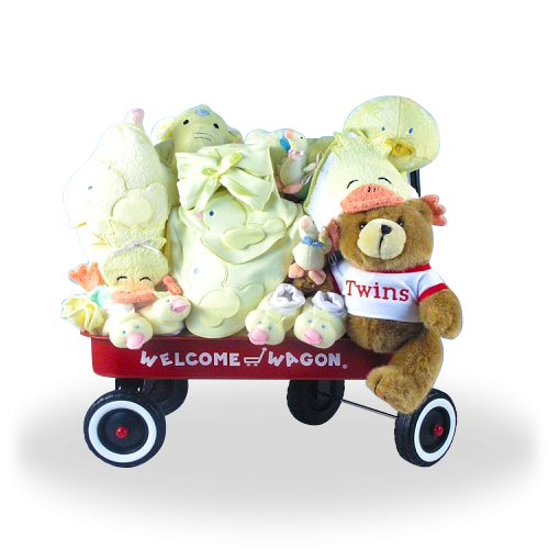 2d4f85b9df10 Deluxe Welcome Wagon for Twins Neutral Price   170.00  GiftBaskets4Baby   Neutral  boys  girls  gifts  giftbaskets  Baby For more information visit   www.