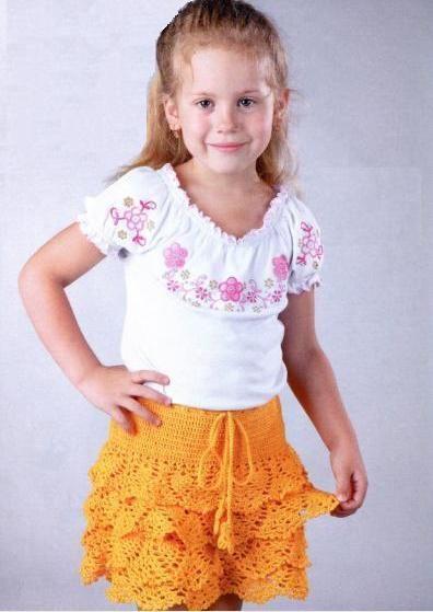 Юбка для девочки трех лет