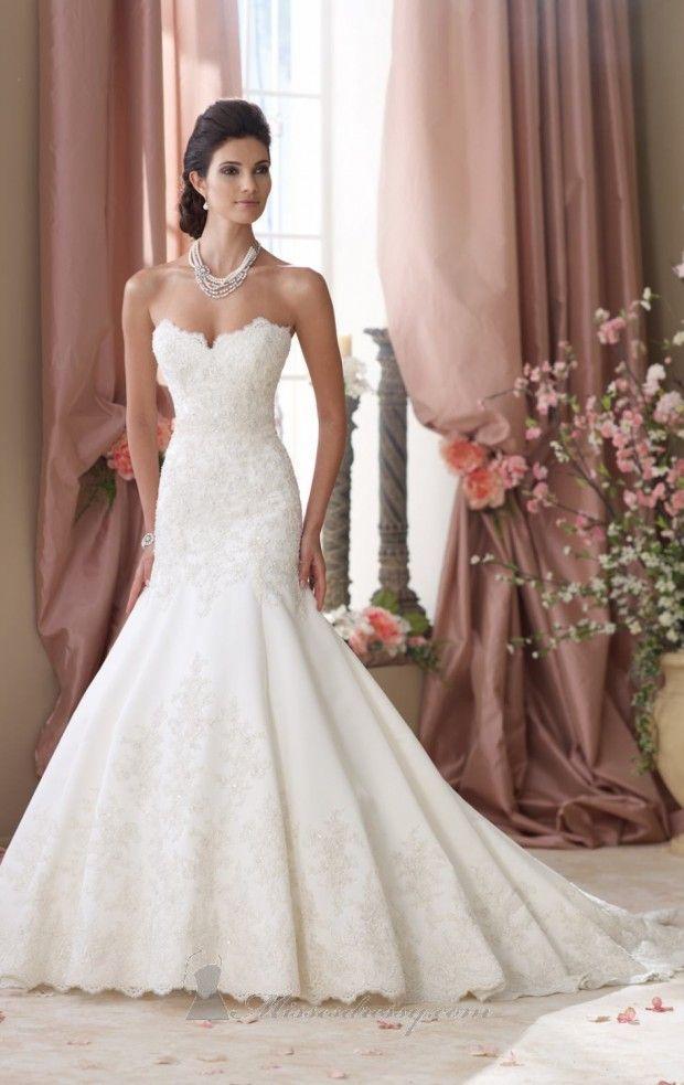 David Tutera For Mon Cheri Spring 2014 Bridal Collection Wedding DressDavid