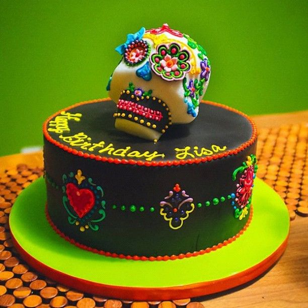 Dia De Los Muertos Birthday Cake Photo By The Goodness