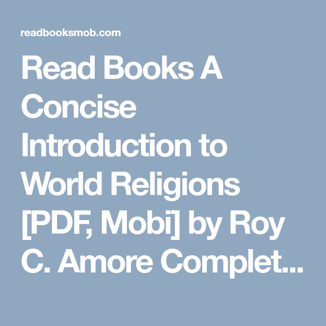 Read books a concise introduction to world religions pdf mobi by read books a concise introduction to world religions pdf mobi by roy c fandeluxe Gallery