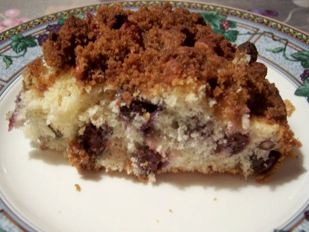 Yummy Pecan Blueberry Coffee Cake