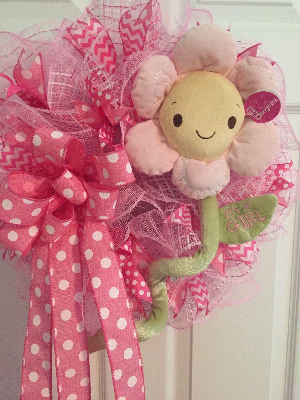 Baby Shower Wreath Images ~ Baby wreath shower hospital door it
