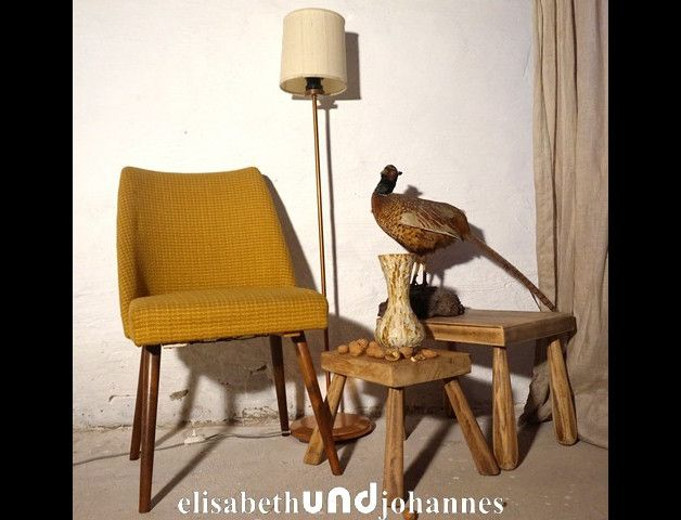 Cocktail Stoel Vintage : Vintage stoelen okergele vintage fifties ddr cocktail stoel