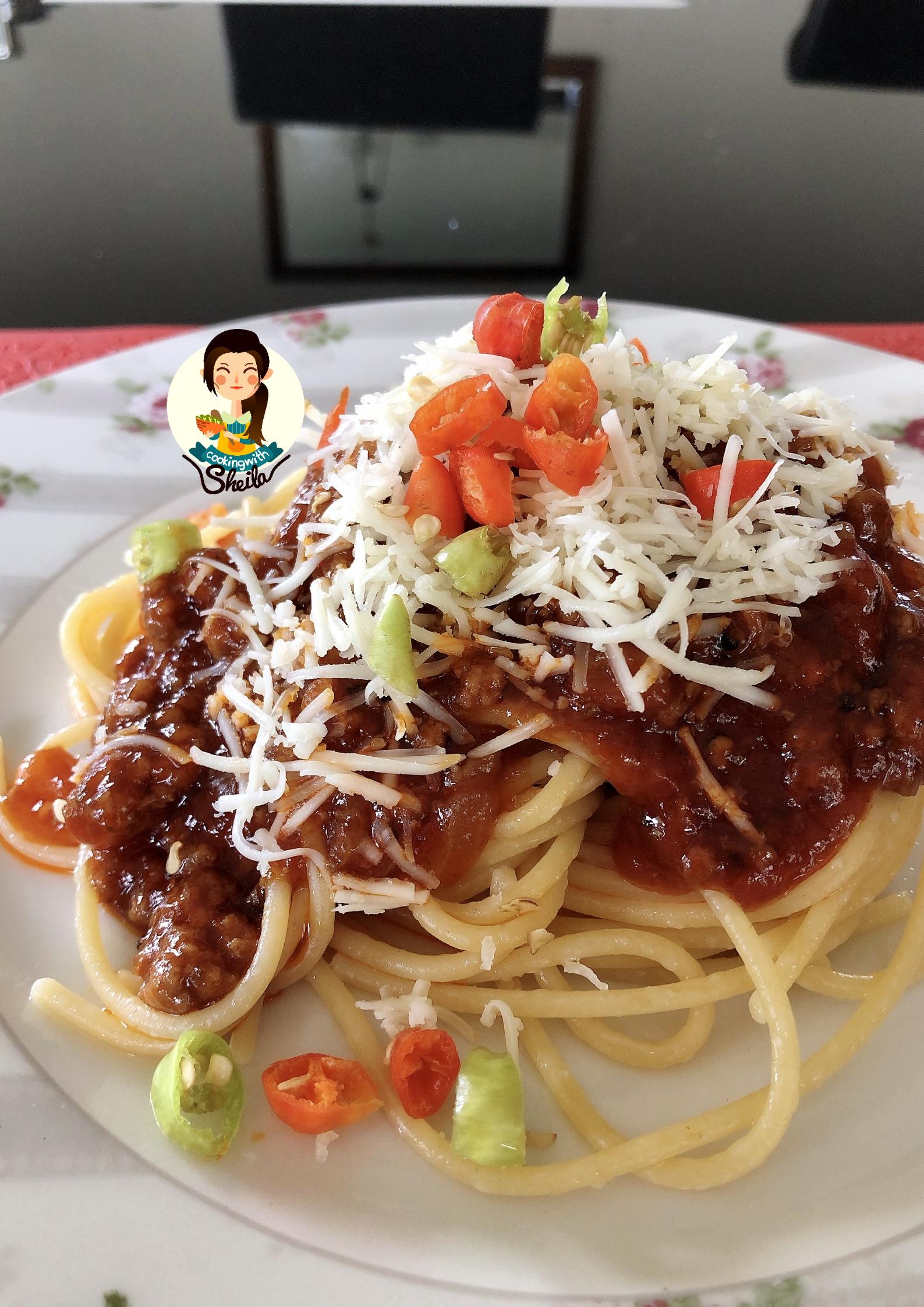 Spaghetti Bolognese Praktis Cooking With Sheila Di 2020 Makanan Daging Sapi Spaghetti