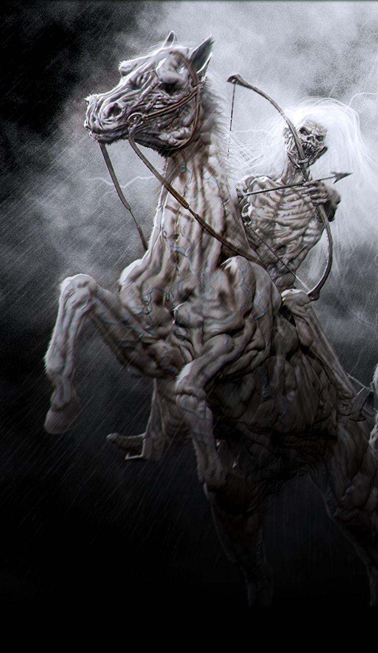 The four horsemen by chokata (detail)   skulls and such