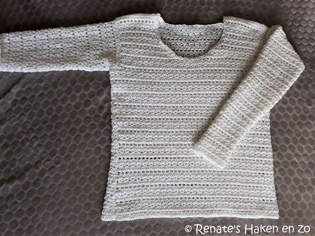 Renates Haken En Zo Witte Trui Witte Trui Pinterest Crochet