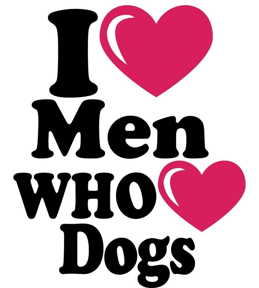Personalized I Heart Men Who Dogs Shirt Women Dog