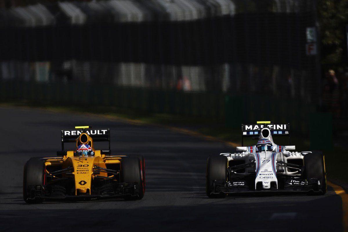 #30 Jolyon Palmer Renault Sport Formula 1 Team #77Valtteri Bottas  Williams Martini Racing
