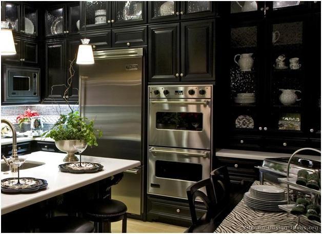 Luxury Dark Cabinetry by Kitchen Design Ideas Florida home