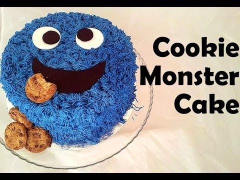 How To Decorate Easy Cookie Monster Cake Birthday Cakes