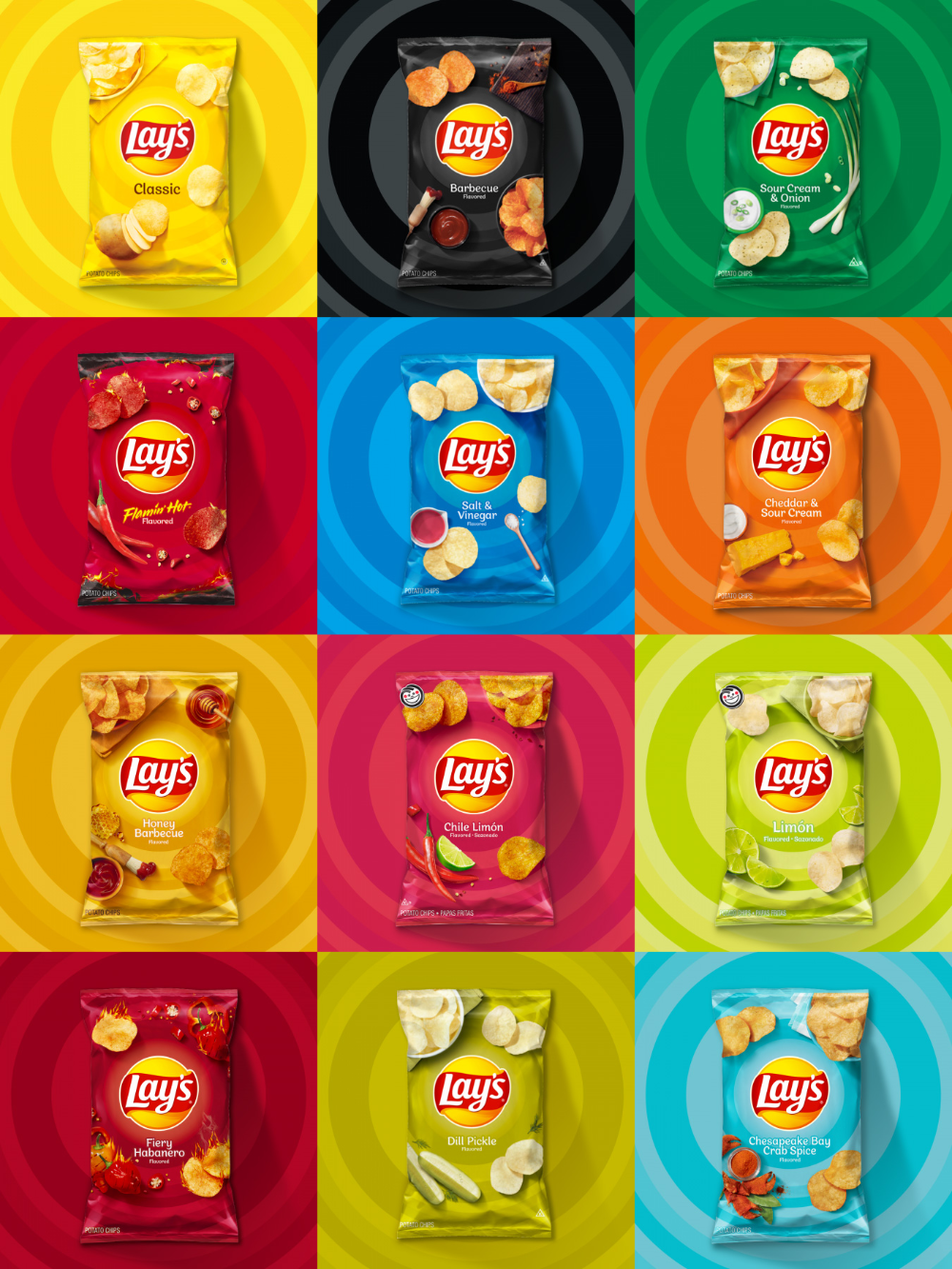 Brand New New Logo And Packaging For Lay S Chip Packaging Packaging Snack Food Poster Design