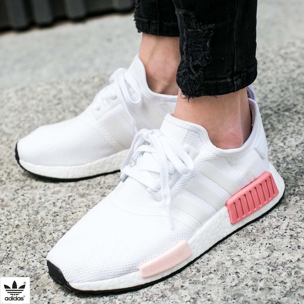 77c632bebed buty adidas nmd r1 women footwear white icey pink (by9952)