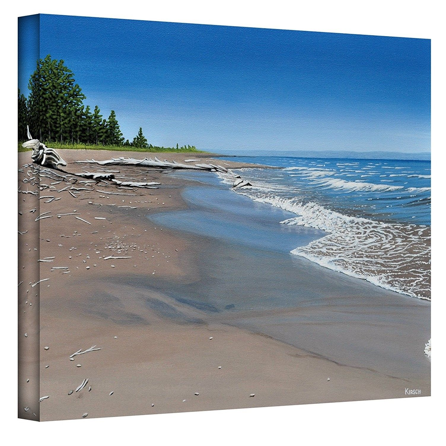 The #Art Wall 36 By 48 Inch #Driftwood Beach Wrapped Canvas