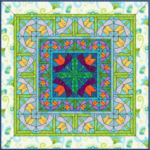 Spring Sprouts   Flower quilts, Quilt design and Electric quilt : quilt design wizard - Adamdwight.com