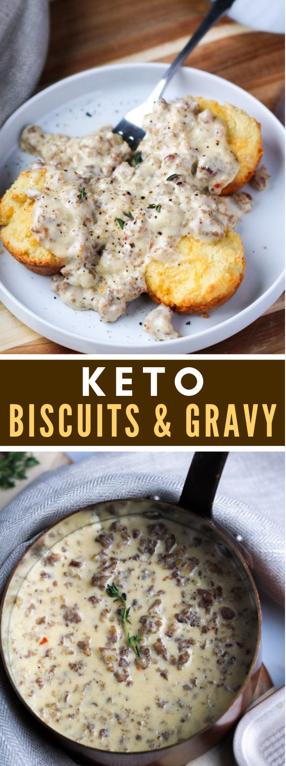 KETO BISCUITS AND GRAVY #healthy #breakfast