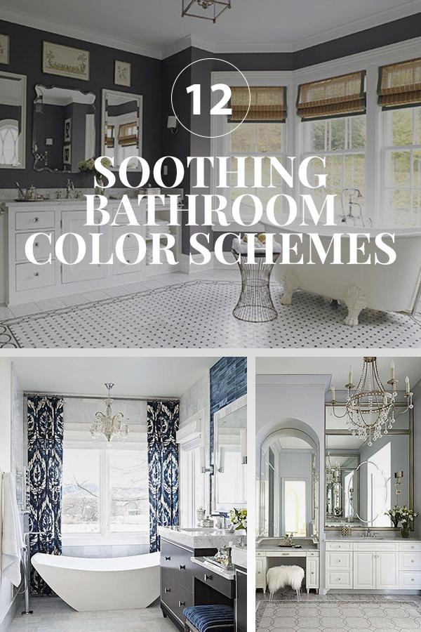 Soothing Bathroom Color Schemes Bathroom Color Schemes Spa Bathroom Colors Color Schemes