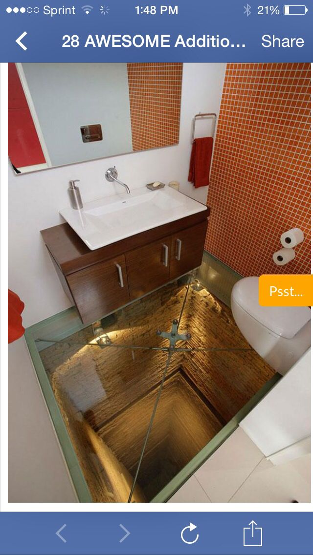 How Awesome Would This Be In The Bathroom See Through Flooring Glass Floor Flooring Bathroom Design