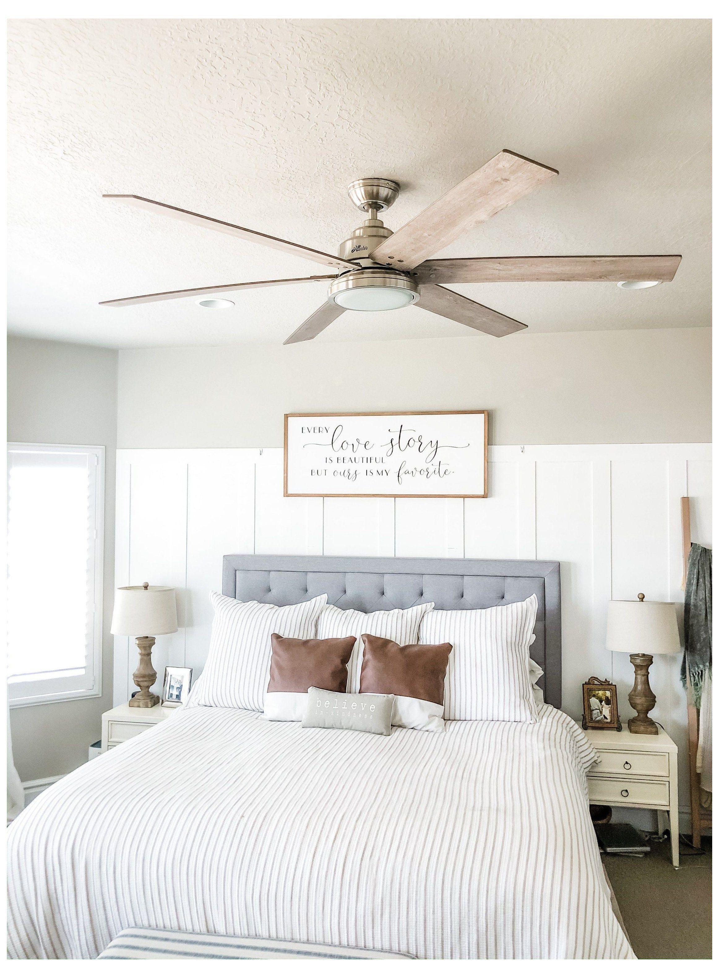 Master Bedroom Ceiling Fan Installation best master