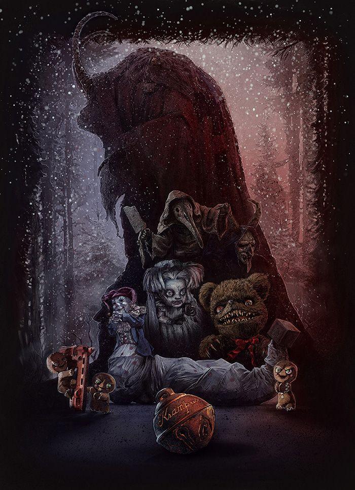 Krampus By Mark Button Home Of The Alternative Movie Poster Amp Krampus Movie Christmas Horror Horror Art
