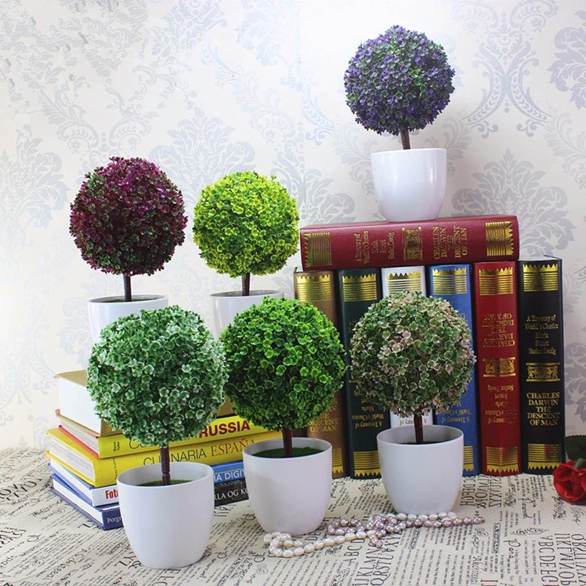 Nsaiworldartificialtopiarytreeballplant