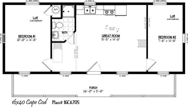 16 x 40 home plans