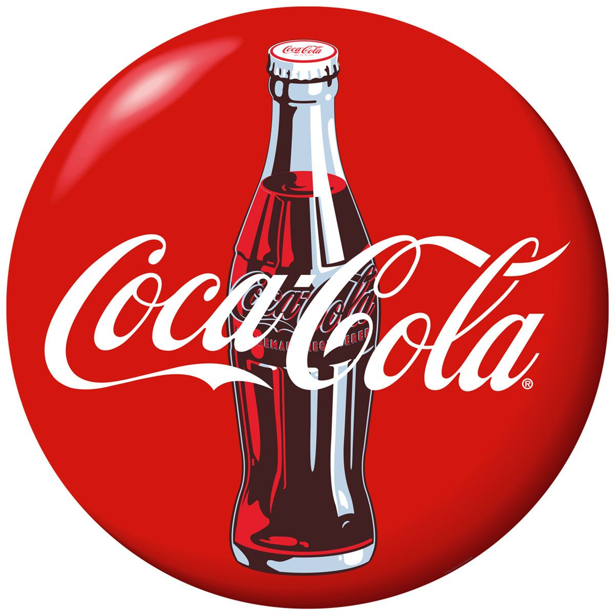 Vinyl Red Coca Cola Drinks Coasters