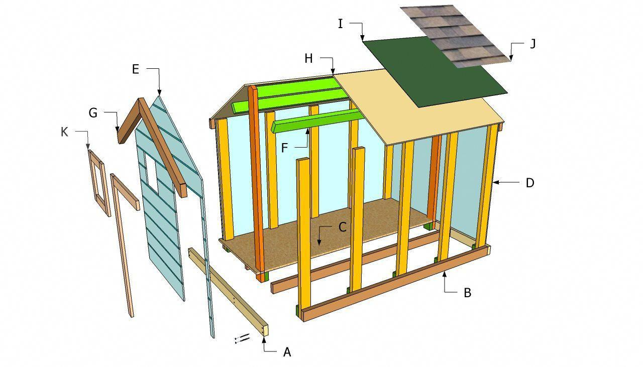 Loft bed with slide building plans  Simple playhouse components kidsindoorplayhouse  Build A Playhouse