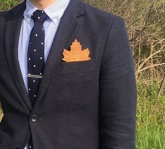 Laser Cut Wooden Oak Leaf Pocket Square These Squares Are And Made To