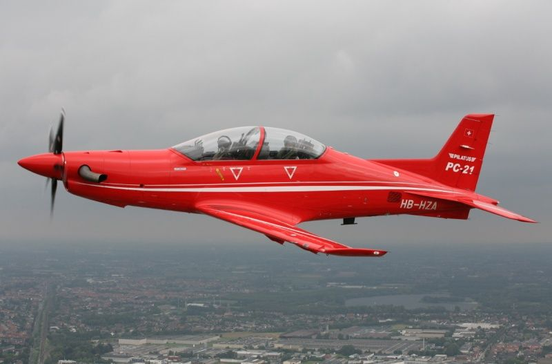 The Pilatus PC-21 is a single-turboprop, low wing swept ...