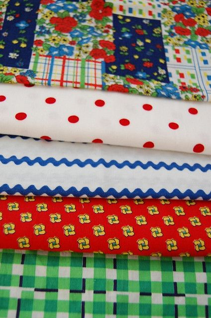 Vintage Button Swap - fabrics by hyena-in-petticoats, via Flickr