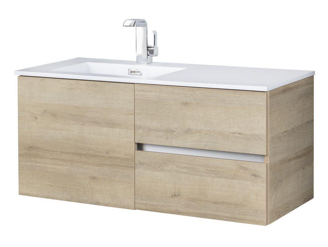 42 Wall Mounted Single Bathroom Vanity Set In 2020 Bathroom