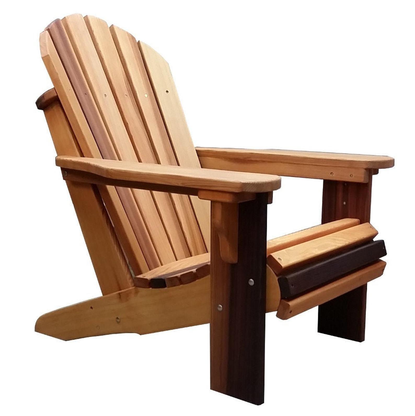 Premium Western Red Cedar Wood Adirondack Chair Wood Adirondack