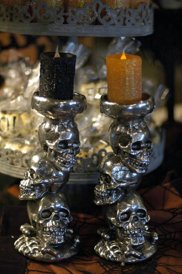 Skull Candlesticks