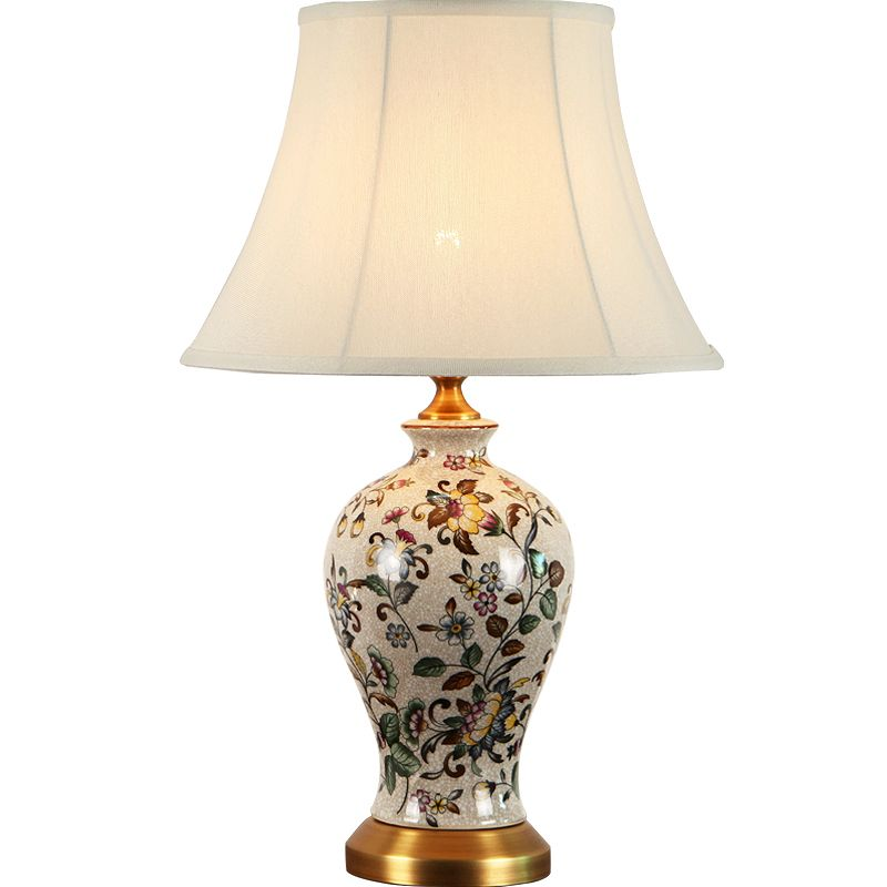 New Chinese Ceramic Fabric Led E27 Dimmer Table Lamp For Living Room Study Bedroom Bedside Study Deco H 53cm 2112 Lamps Living Room Lamp Study Bedroom