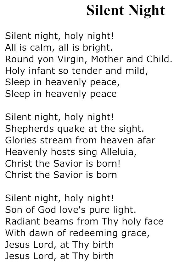 It is a picture of Hilaire Silent Night Printable Lyrics