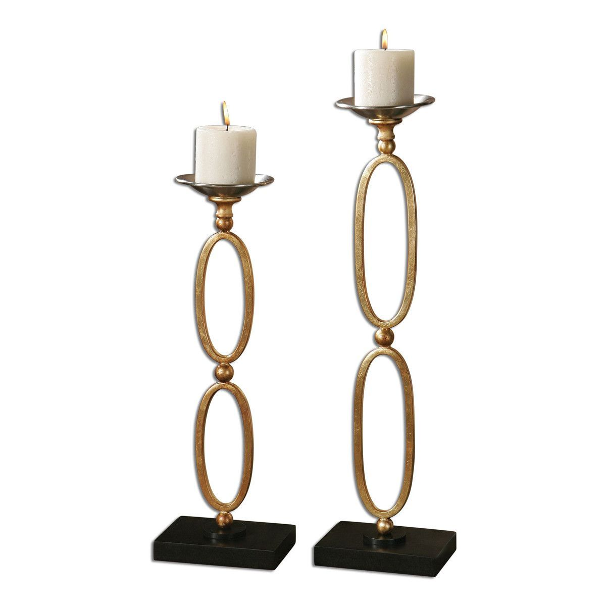 Lauria Chain Link Candleholders, Set of 2