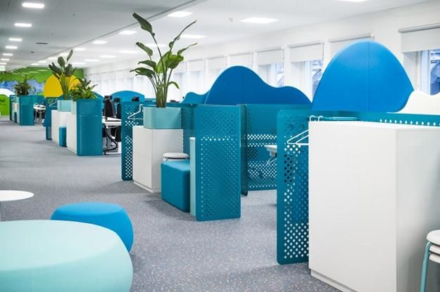 Bright Interior Colors And Office Design Ideas Inspiring Creativity In King Office Design Colorful Interiors Modern Office Design