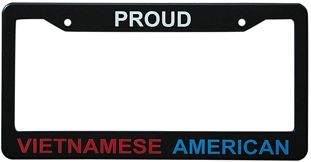 Proud Vietnamese American License Plate Frame Bumper Stickers License Frames License Plate Frames