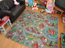 Huge Extra Large Size Boys Kids Childrens Playroom Road Rug Mat Rugs Mats