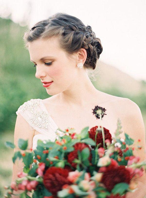diez peinados de novia con trenzas para boda peinados trenzas