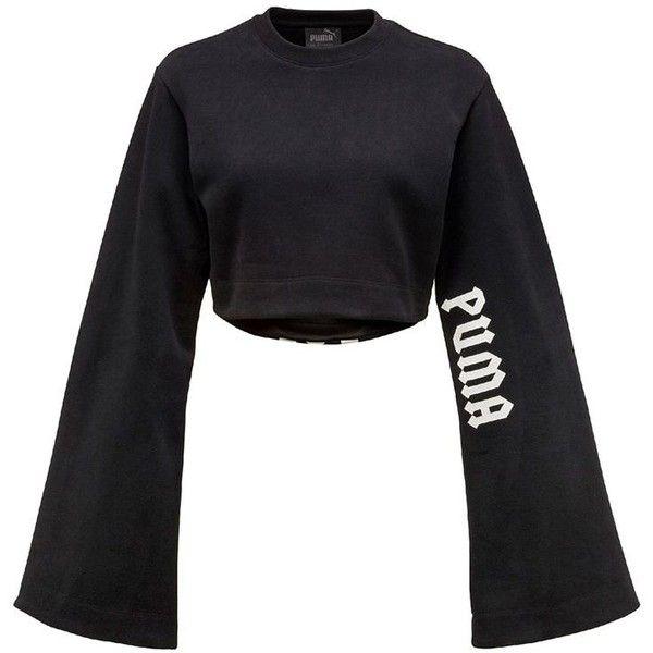 0f878e8f07cd Fenty X Puma Women Long Kimono Sleeve Cotton Crop T-shirt found on Polyvore  featuring tops