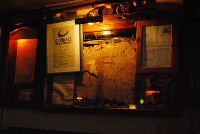 Athlone, Sean's Bar - a piece of the old wall form the oldest pub in Ireland.